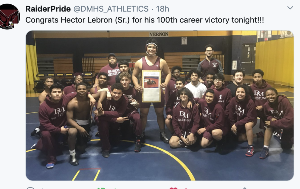 Hector Lebron-100th Career Victory